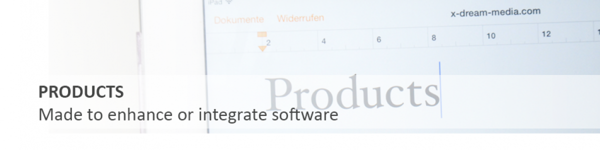 Products Made to enhance or integrate software